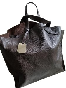 Furla Work Leather Medium Size Tote in Brown