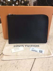 Louis Vuitton Pouch Wallets Black Clutch