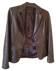Marc New York Brown Leather Jacket Blazer