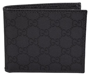Gucci Gucci 260987 Men's BLACK Nylon GG Guccissima Bifold Wallet