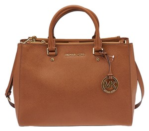 Michael by Michael Kors Sutton Saffiano Tote in Brown