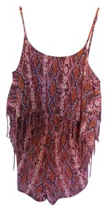 Volcom Animal Print Fringe Dress