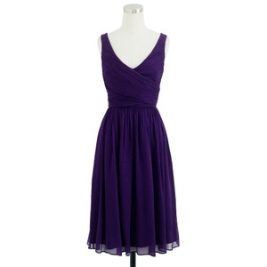 J.Crew Purple Heidi Dress In Silk Chiffon Dress