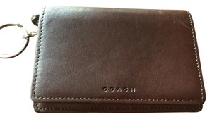 Coach Keychain wallet in super soft leather.