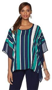 Slinky Brand Slinky Poncho Womens Pullover Batwing Tunic