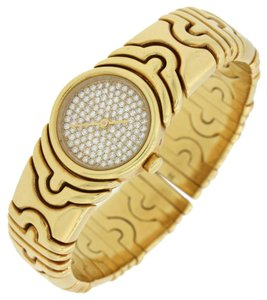 BVLGARI Bulgari Bvlgari Parentesi 18k Gold Diamond Dial Watch BJ01