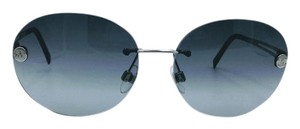 Chanel Stunning Black with Silver Round Chanel Sunglasses 4158 c.124/8G 55