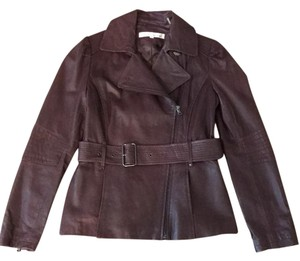 Kenneth Cole Cabernet Leather Jacket