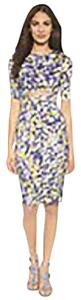 SUNO short dress Lavender/Yellow floral print Cut Out Lavender on Tradesy
