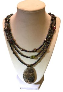 Anna's Art Stunning Abalone 3 Row Necklace