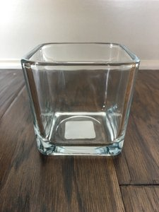 Square Glass Votives - Never Used