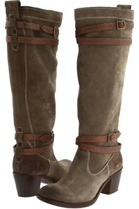 Frye Jane Strappy Tall Oiled Fatigue Sz 9 Factory Distressed Boots