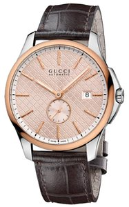 Gucci G-Timeless Large Automatic Rose Gold-tone Dial Mens Watch YA126314