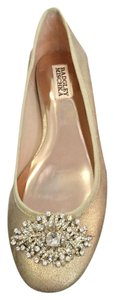 Badgley Mischka Gold Flats