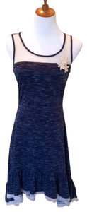 Mysteree short dress Navy Blue Bodycon Panel Embellished on Tradesy
