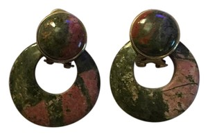Other Marble Like Earthy Tone Colored Earrings