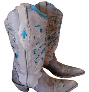 Corral Brown & Turqouise Boots