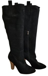 Black Rooster Dress High Heel black Boots