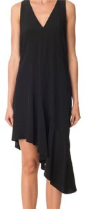 Tibi Silk Asymmetrical Silk Seamed Dress