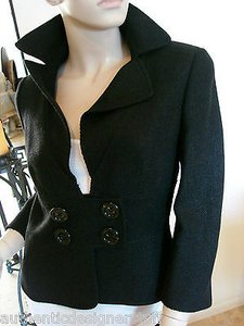 Rena Lange Wool Blend Black Jacket