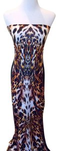 Animal Print Maxi Dress by Johanne Beck Bodycon Leopard