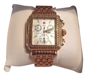 Michele Michele Signature Deco Diamond - Rose Gold