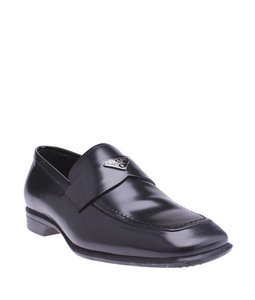 Prada Leather Loafers Black Formal