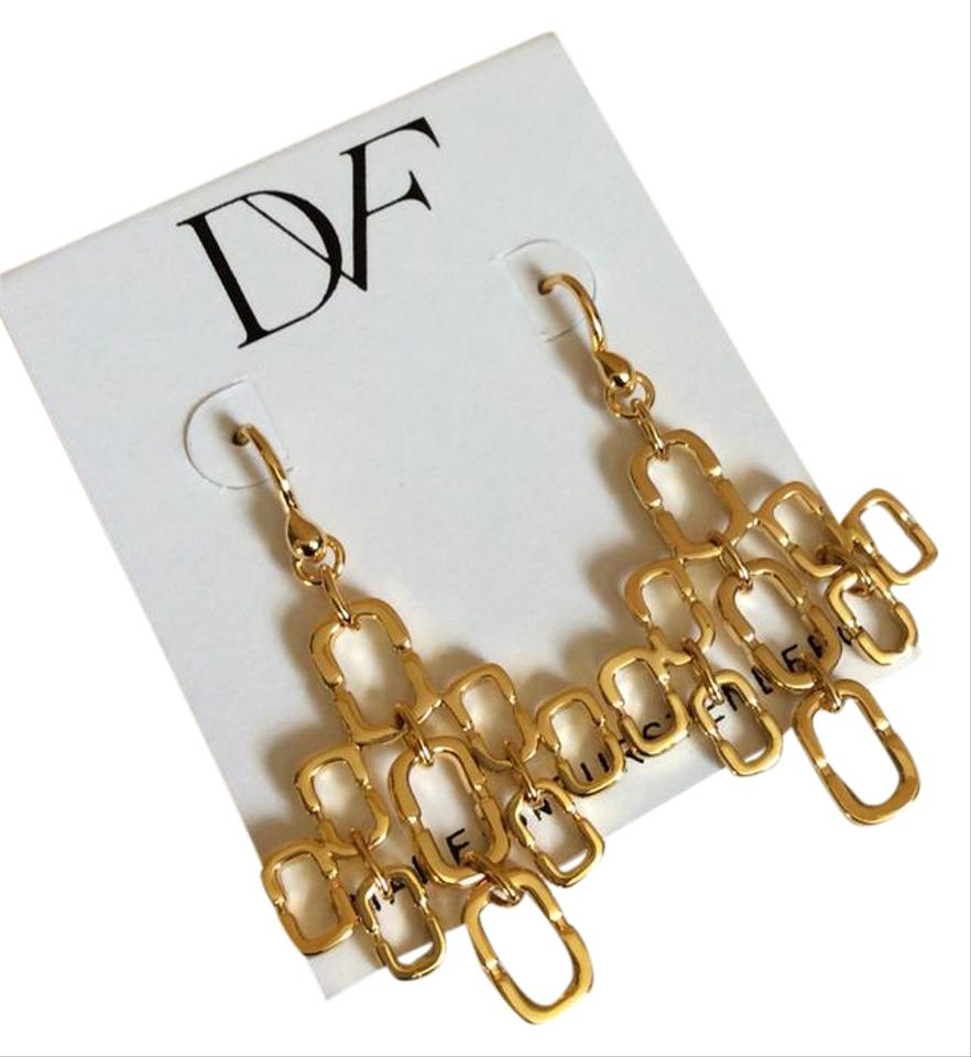 NEW Chain Link Cluster Drop Earrings - Tradesy