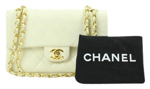 Chanel Small Mini Nano Flap Classic Satchel in White