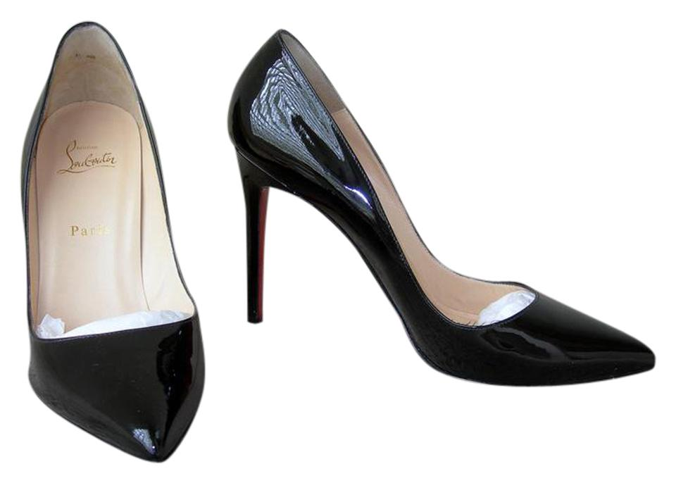 save off 04892 37f3f Black Patent Pigalle 100 Pumps
