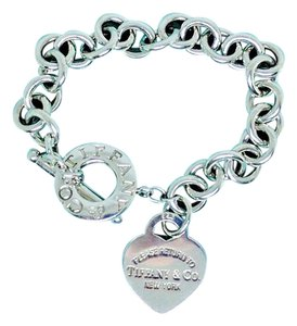 Tiffany & Co. POPULAR!!! Tiffany & Co. Return to Tiffany Heart and Toggle Bracelet Sterling Silver 7.5