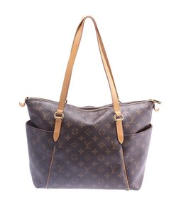 Louis Vuitton Coated Canvas Leather Tote in Brown