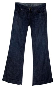 Level 99 Tall Cuffed Trouser/Wide Leg Jeans-Dark Rinse