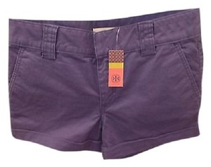 Tory Burch Casual Cuffed Shorts Pirate Blue