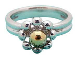 Tiffany & Co. Tiffany Jolie Flower Ring in in Sterling Silver 18K Gold, sz. 5.5