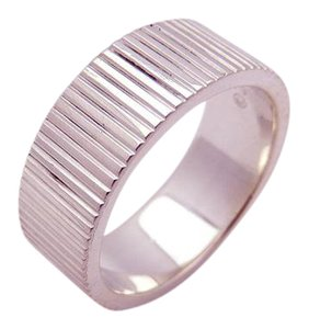 Tiffany & Co. Tiffany & Co Coin Edge Band Ring in Sterling Silver 925