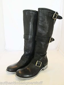 Cordani Knee Buckle Knee Black Boots