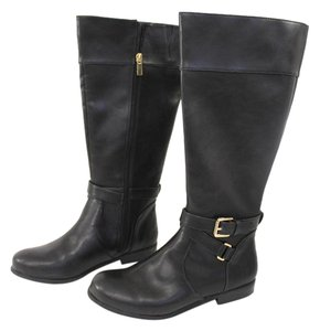 Banana Republic Women's Riding Faux Leather Winter Black Boots