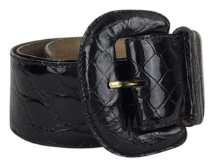 Donna Karan Donna Karan Black Crocodile Belt