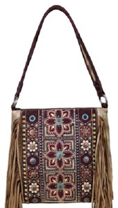 Montana West Embroidered Fringe Hobo Bag