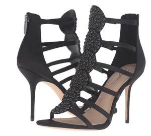 Vince Camuto Studded Satin Black Sandals