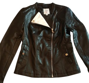Guess Black with white accents Leather Jacket