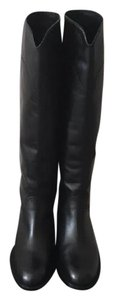 New In Box Chanel Calf Leather Riding Boots size EU 36.5/ US 6.5 black Boots