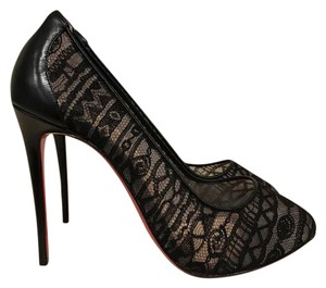 Christian Louboutin Dorissima Pigalle Stiletto Leather Lace black Pumps
