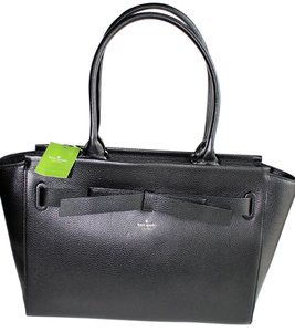 Kate Spade Large Bow Satchel in Black