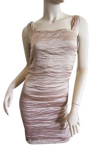Lanvin short dress Beige, Mauve Silk Blend Sleeveless on Tradesy