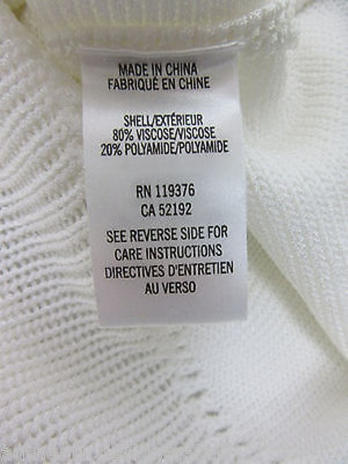 Helmut Lang Cream Ribbed Sweater