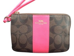Coach Wristlet in Brown/Pink