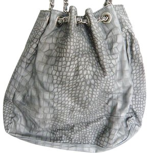 BCBGMAXAZRIA Crocodile Snakeskin Weekend Carry-all Shoulder Bag
