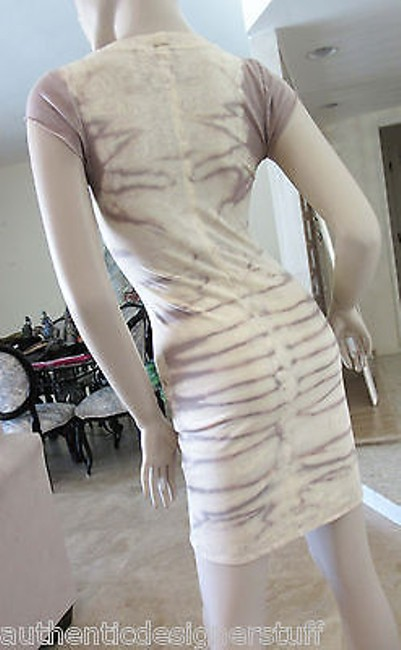 Raquel Allegra short dress Taupe and Peach Tie Dye Fitted on Tradesy